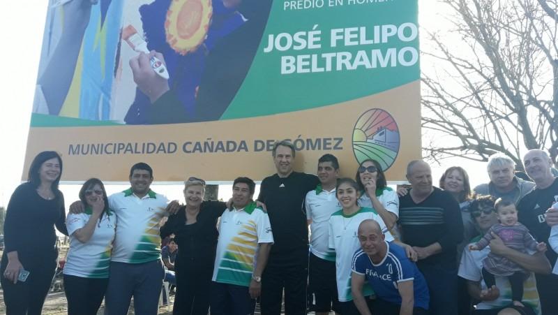 Clerici y Casalegno inauguraron la Plaza José Felipo Beltramo en vecinal La Usina