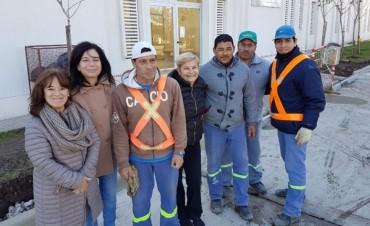 Municipio cierra circuito de pavimento en el  Centro de Salud Estévez Boero