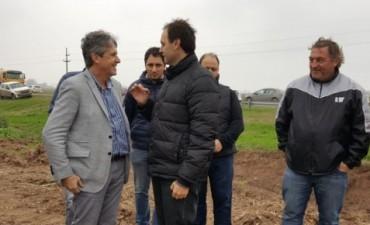 Garibay y Rasetto recorrieron obras en el Arroyo