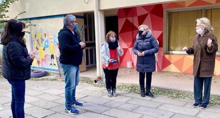 RESPALDO DEL MUNICIPIO A NUEVAS MEJORAS EN ESCUELA ALBERDI