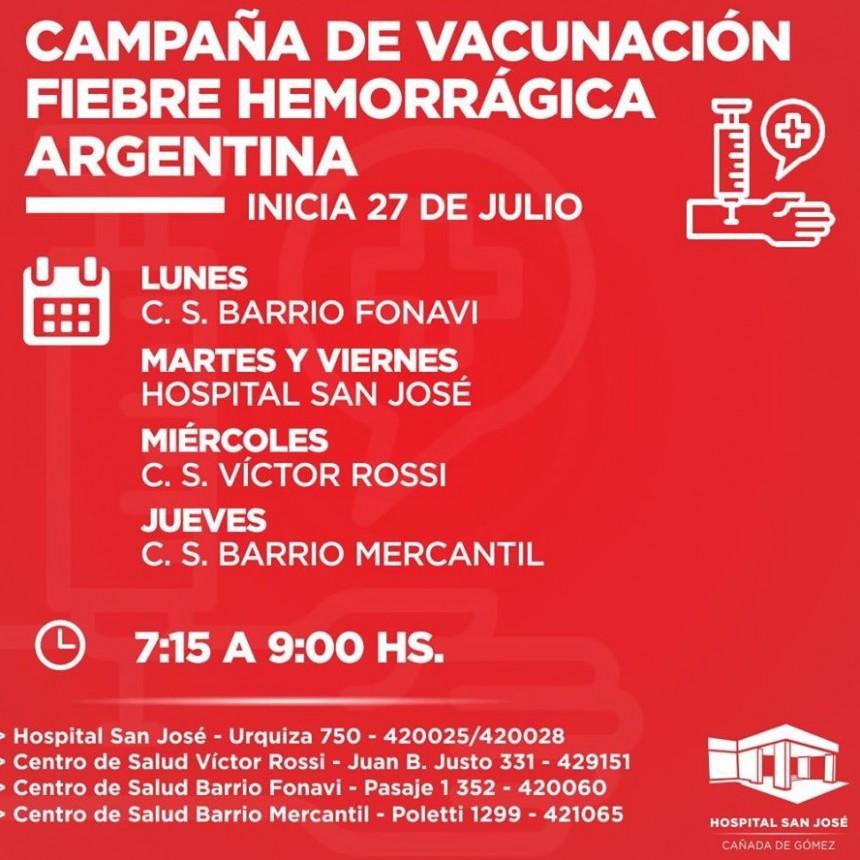 HOSPITAL INTENSIFICA VACUNACIÓN CONTRA LA FIEBRE HEMORRÁGICA ARGENTINA