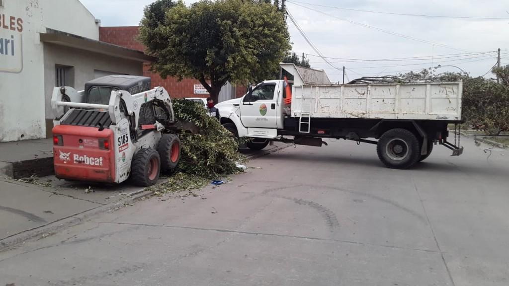 El Municipio continúa con tareas de higiene urbana