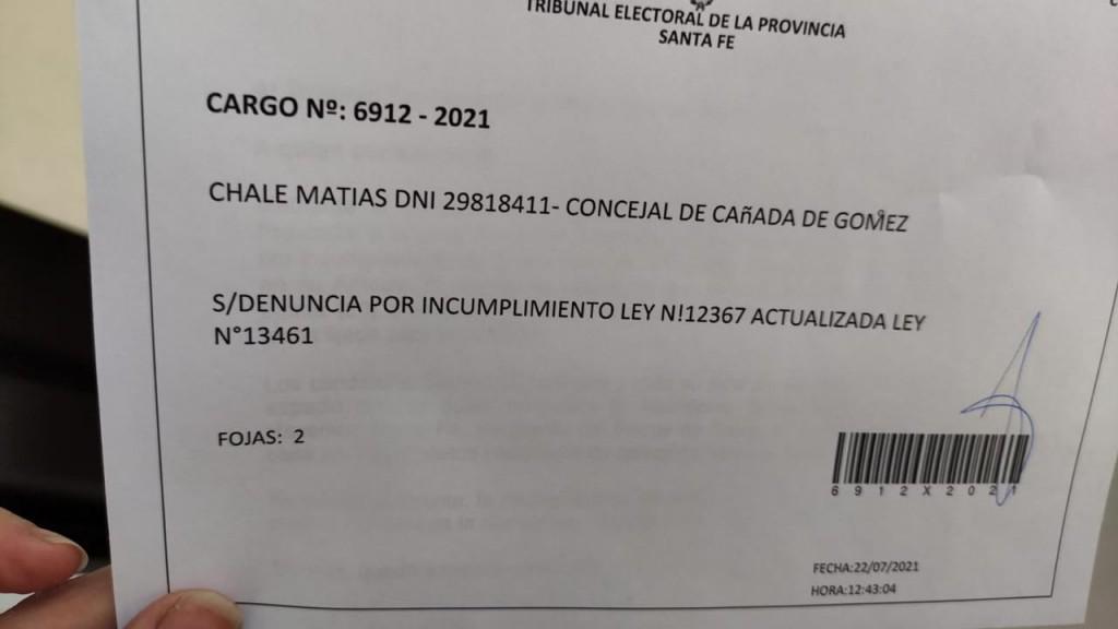 Chale denunció que el oficialismo comenzó la campaña 25 días antes