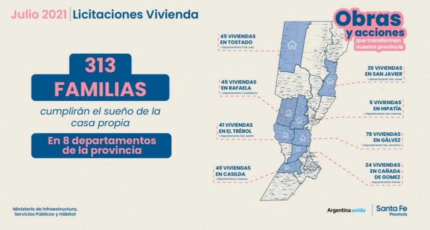 Durante julio la provincia licitará la construcción de 313 viviendas para ocho localidades