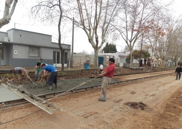 Obras de pavimento en zona sur