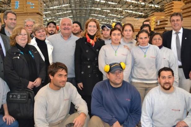 La Ministra de Industria recorrió empresas locales