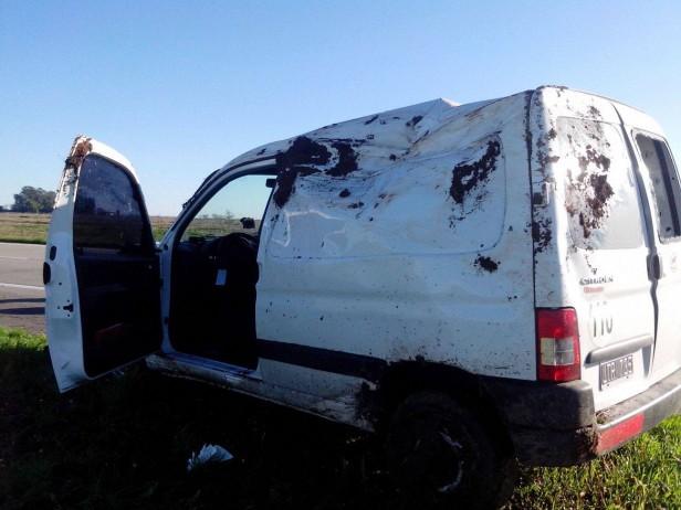 Accidente en autopista Rosario-Córdoba