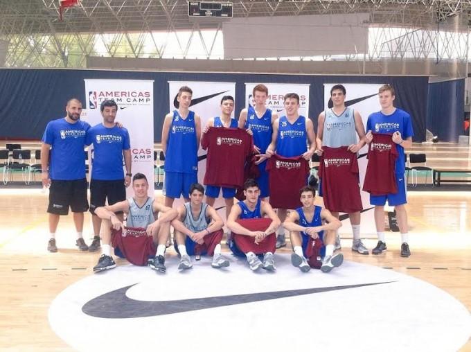 Francisco Farabello participó en el Americas Team Camp de la NBA