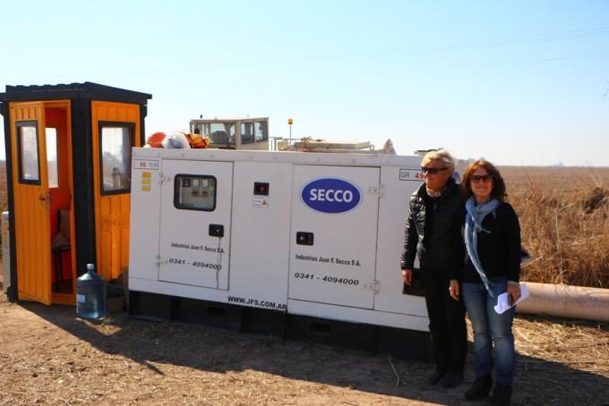 La intendenta visitó los trabajos de la empresa Secco SA