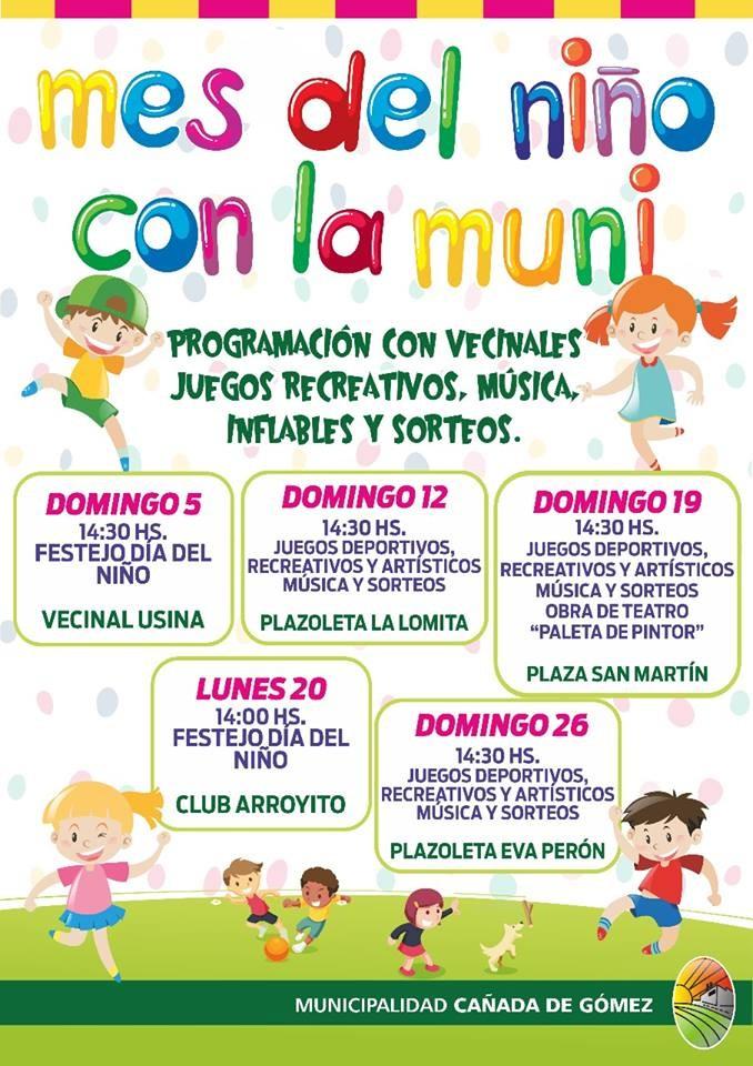 El domingo comienza el Mes del Niño con la Muni