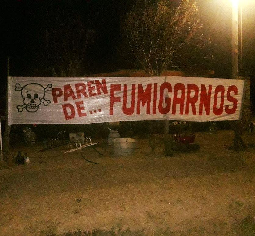 Vecina de calle La Plata denuncia que es perjudicada por las fumigaciones en campos vecinos