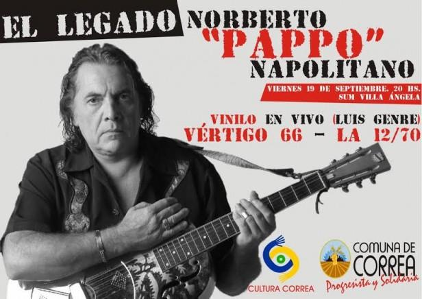 Correa: Homenaje a Norberto Pappo Napolitano