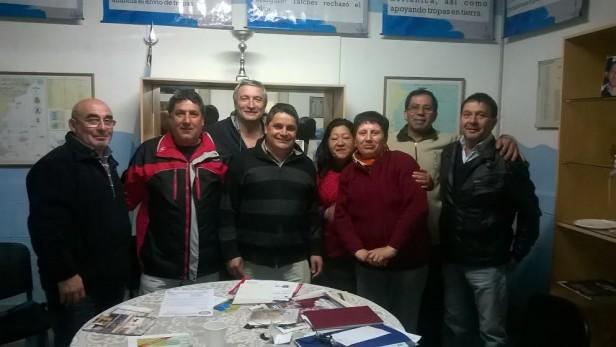 Los ex combatientes se reunieron con Mauroni