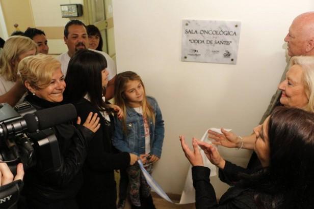 Clérici participó de la inauguración de la sala oncológica