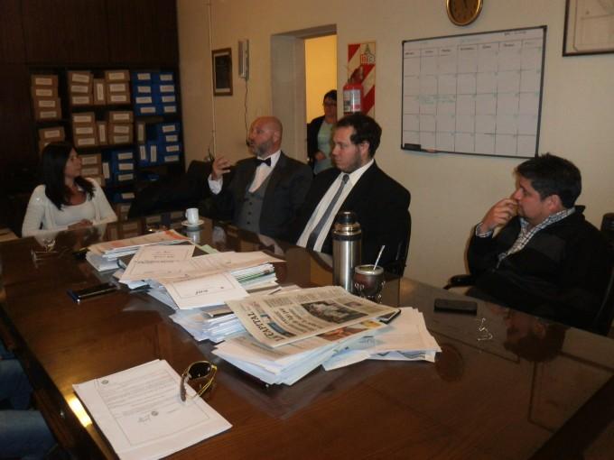 Rossini se reunió con los concejales