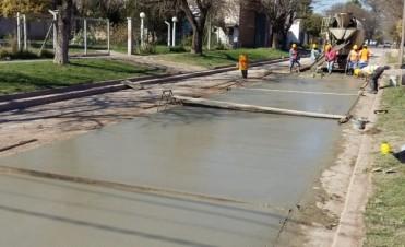 Se concreta pavimento en zona Norte