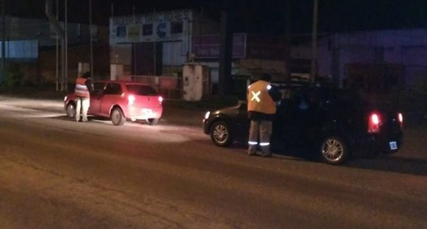 Nueve vehiculos retenidos por control de alcoholemia