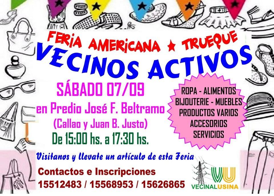 Feria Americana y Trueque Vecinos Activos