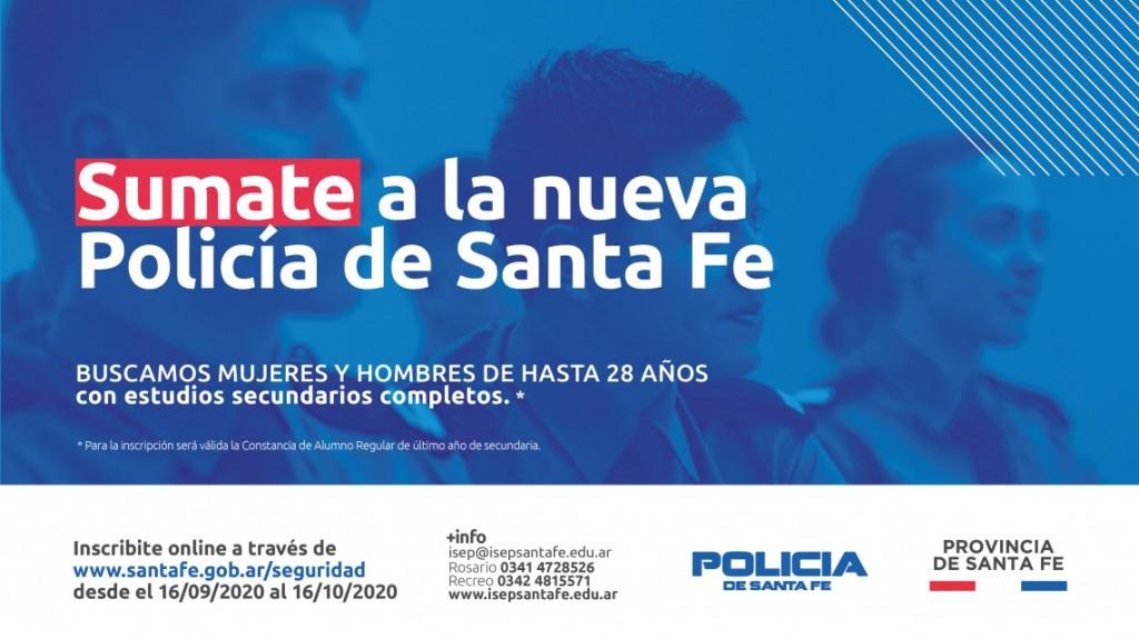LA PROVINCIA ABRE LA INSCRIPCIÓN PARA INGRESAR A LA NUEVA POLICÍA DE SANTA FE