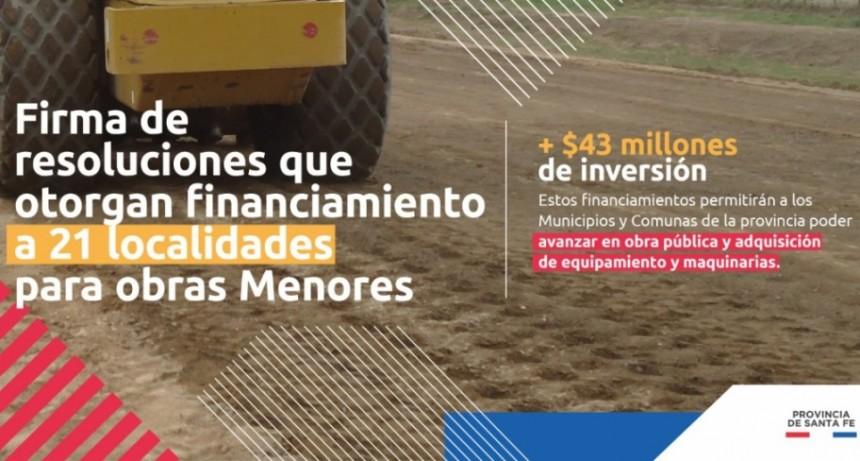 LA PROVINCIA APROBÓ PROYECTOS DE FINANCIAMIENTO DEL FONDO DE OBRAS MENORES A 21 LOCALIDADES