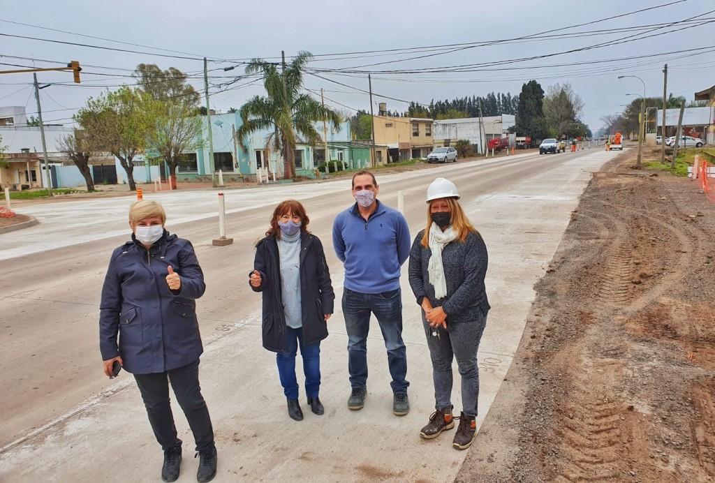 Avanza la reconstrucción de la ruta 9 en Cañada de Gómez y la Región