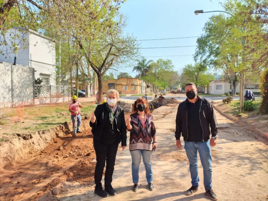 El Municipio continúa con trabajos en calle Concepción