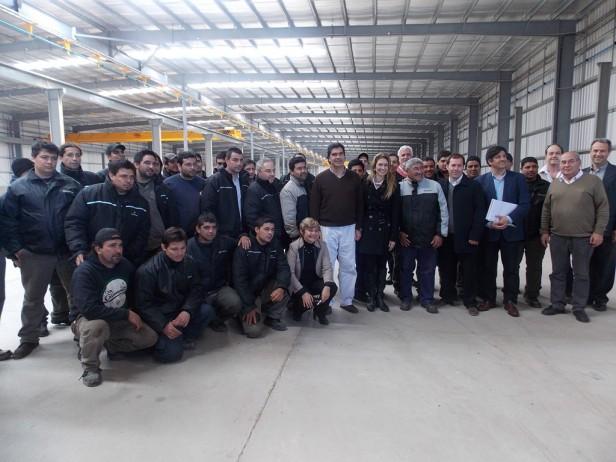 Clerici, Capitanich y Giorgi recorrieron empresas en el Parque Industrial