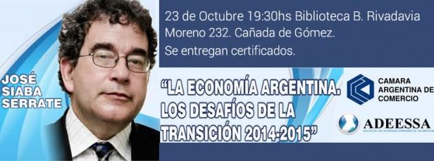 Charla: La Economía Argentina, los desafíos de la transición 2014-2015