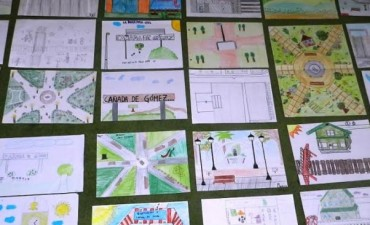 Exponen dibujos de alumnos de nivel primario