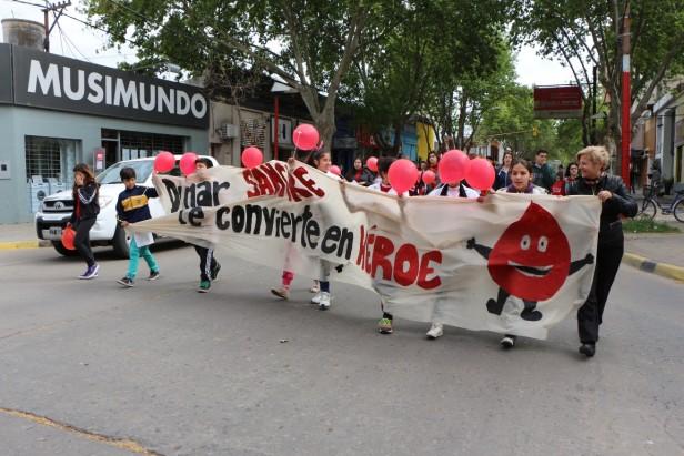 Primera marcha por la Donación de Sangre