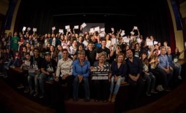 Doscientos alumnos de primaria estrenaron diez cortometrajes