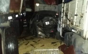 Accidente múltiple en autopista