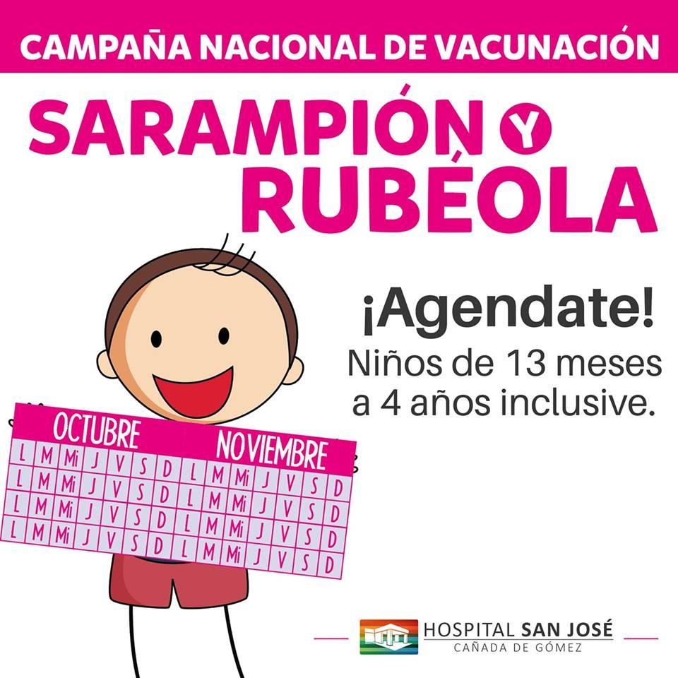 Campaña de vacunación triple viral