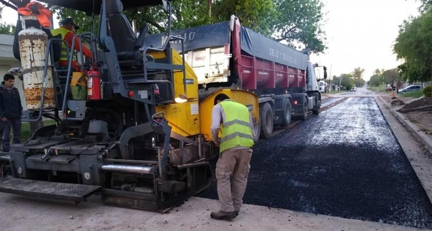 La gestión municipal concretó 9 cuadras de pavimento