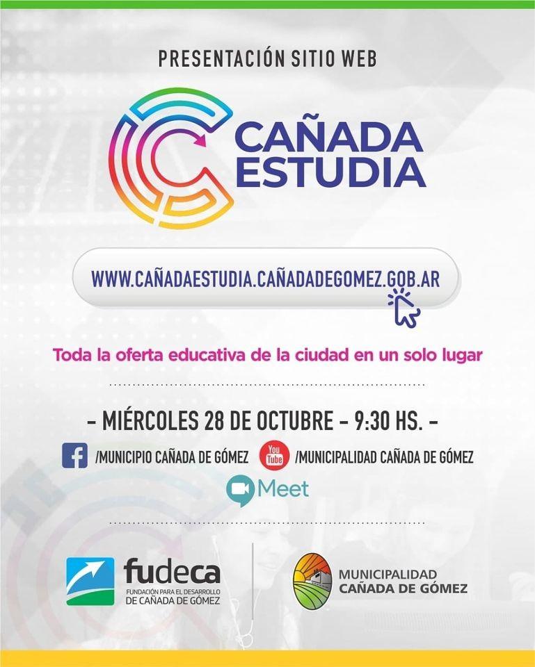 Municipio y FUDECA presentan nueva web con toda la oferta educativa de Cañada