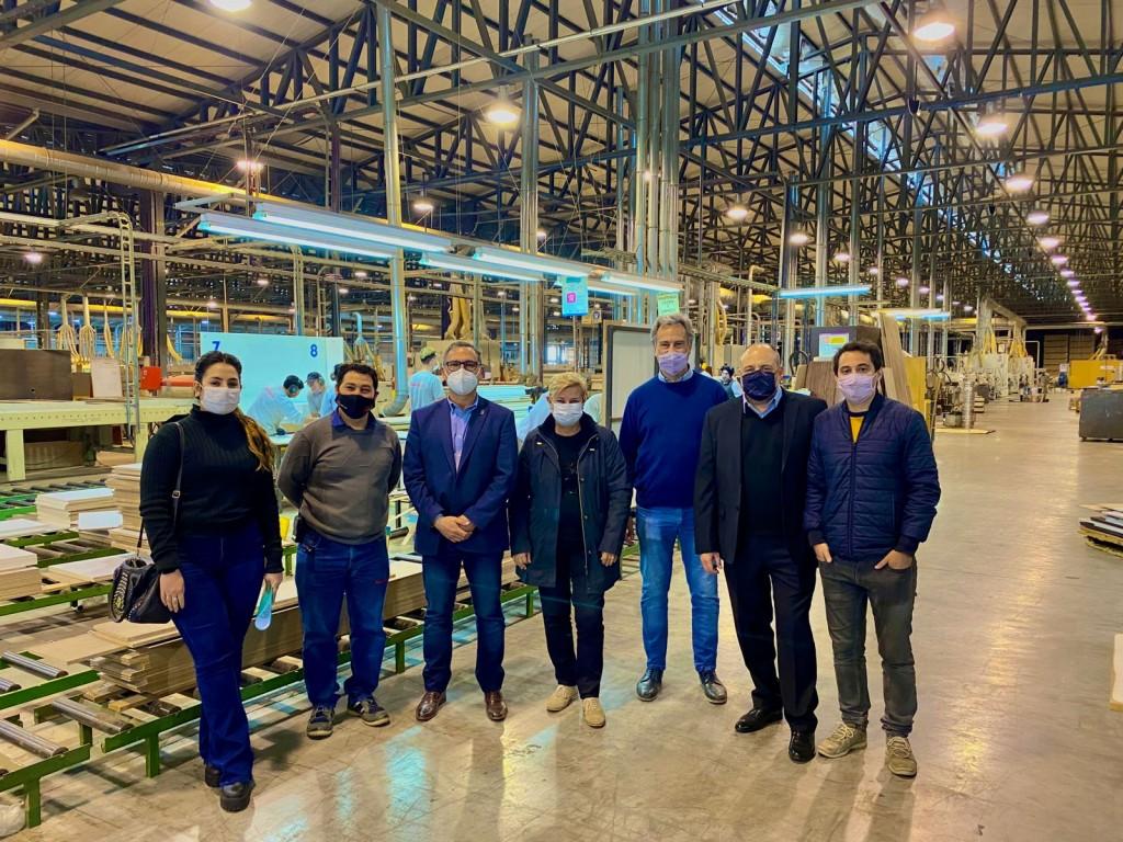 Clérici y Casalegno recorrieron industrias junto al presidente del INTI