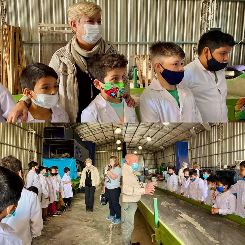 Alumnos de la Escuela Belgrano visitaron la planta de tratamiento de residuos