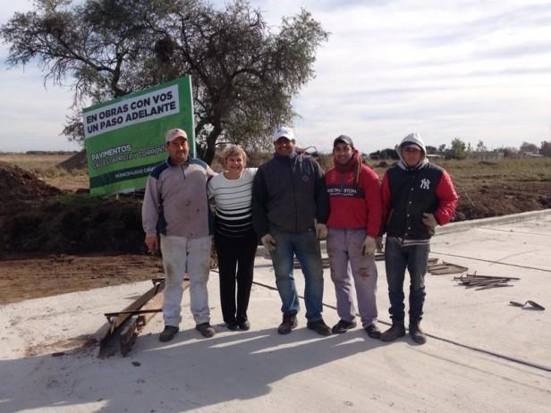 La intendenta anunció la pavimentación de calle Corrientes