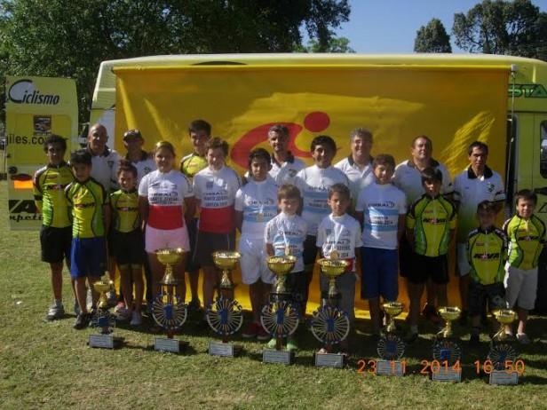 Campeones y sub campeones en ciclismos