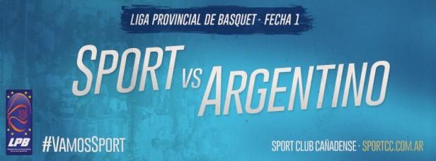 Sport recibe este viernes a Argentino de Firmat