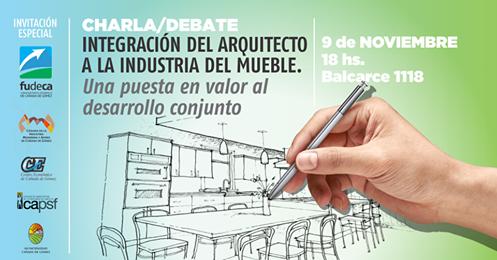Charla Debate: La integración del arquitecto a la industria del mueble