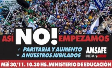 Movilización al Ministerio de Educación