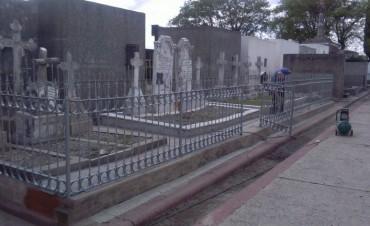 El Municipio continúa trabajando en la conservación del patrimonio histórico del cementerio