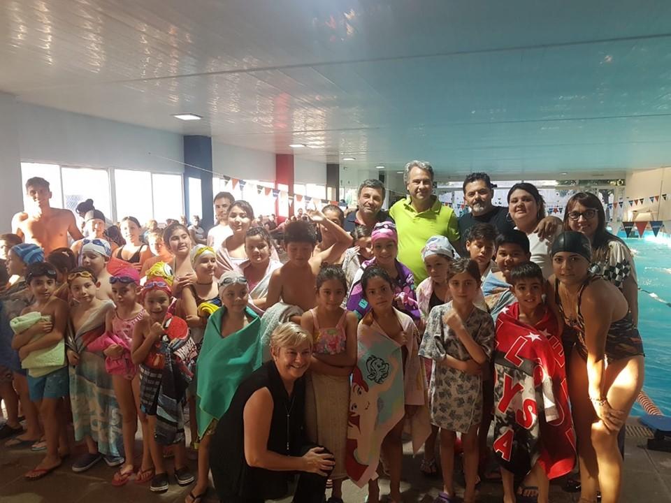 Clérici participó de la fiscalización del programa Aprendamos a nadar con la Muni