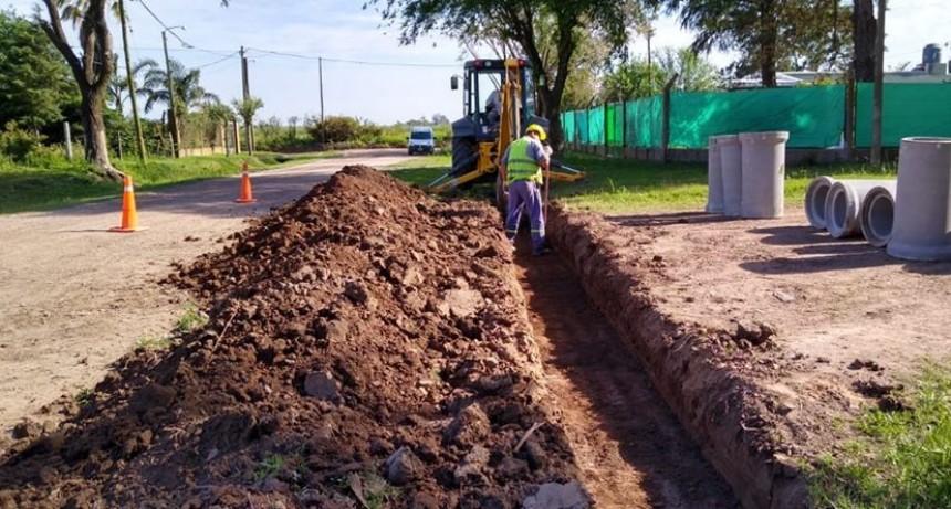 Se ejecutan trabajos de canalización en zona norte