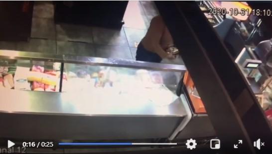 Hurtó una billetera en un supermercado y a pesar de quedar filmada niega el hecho