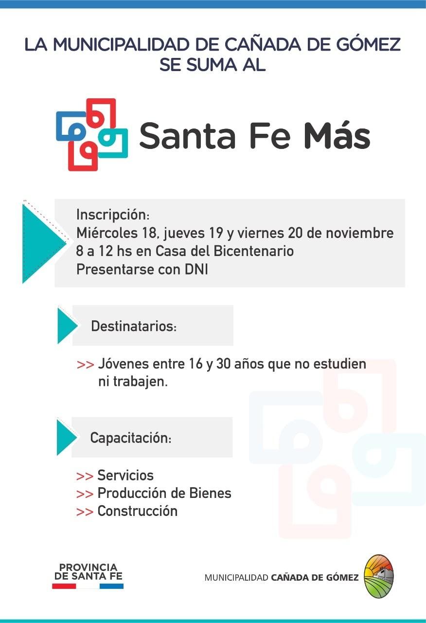 El Municipio se suma al Santa Fe Más