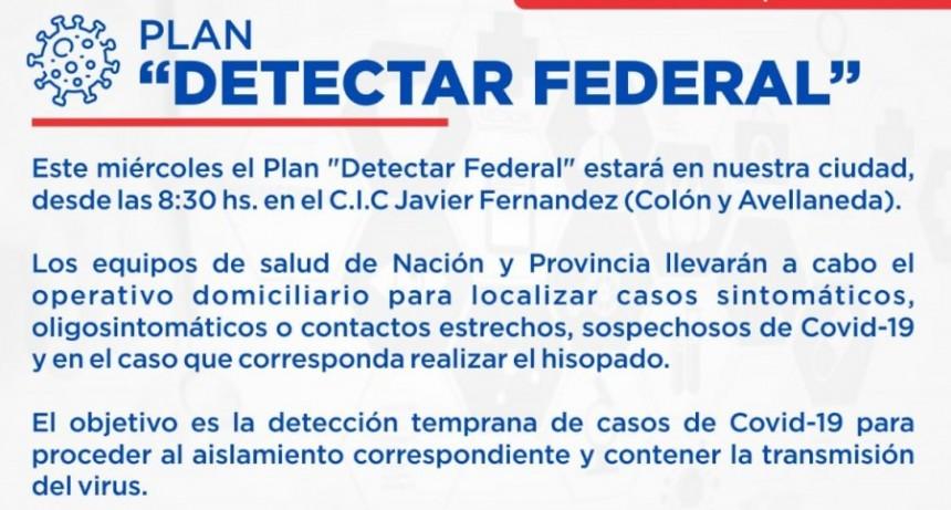 Vuelve el Plan Detectar Federal