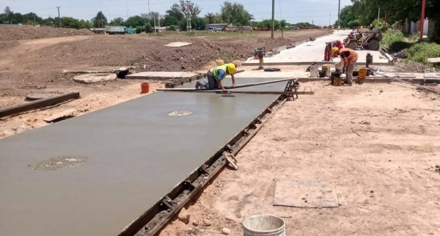 El Municipio continúa con obras de pavimento en zona Sur