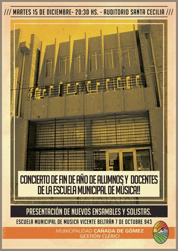 Esta noche Concierto de Fin de Año en Auditorio Santa Cecilia